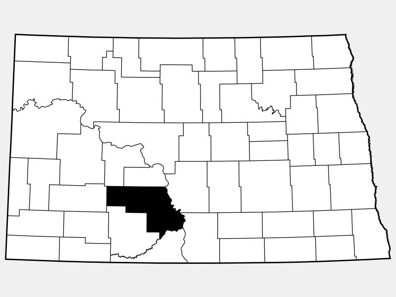 Morton County locator map