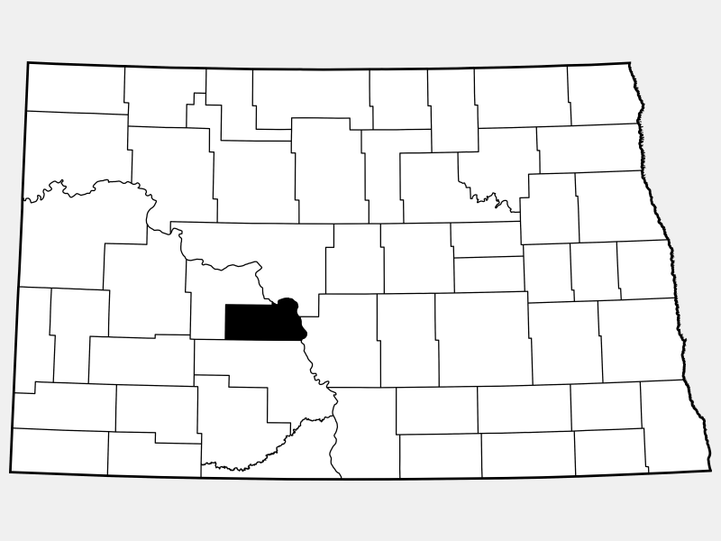Oliver County locator map