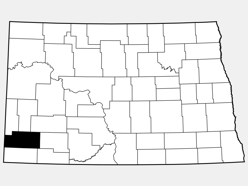 Slope County locator map