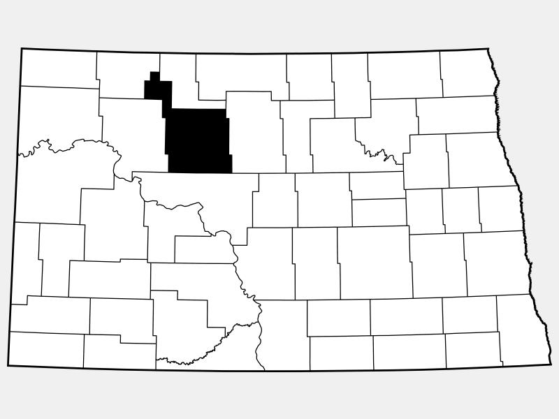 Ward County locator map