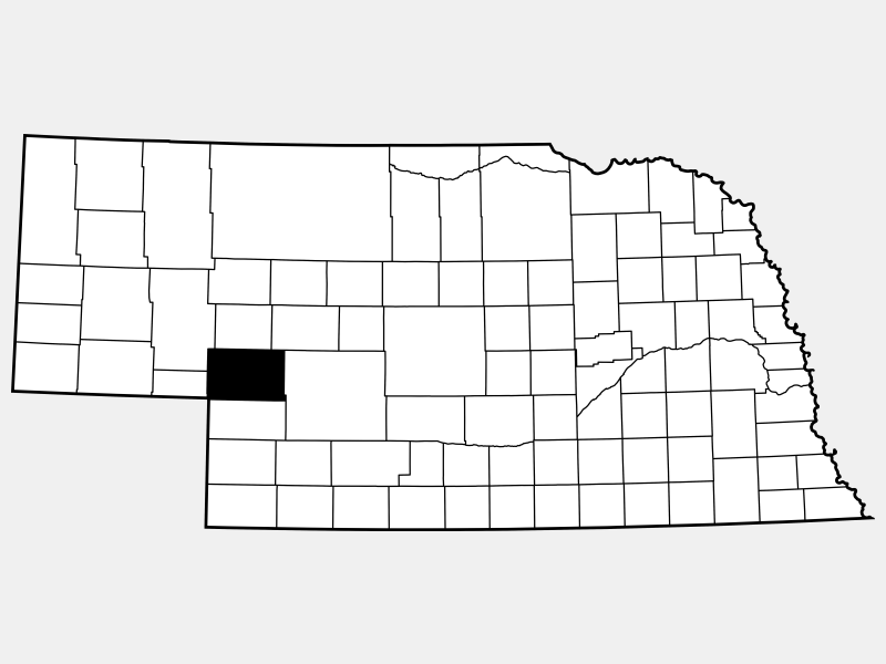 Keith County location map