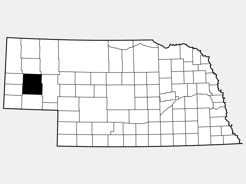 Morrill County location map