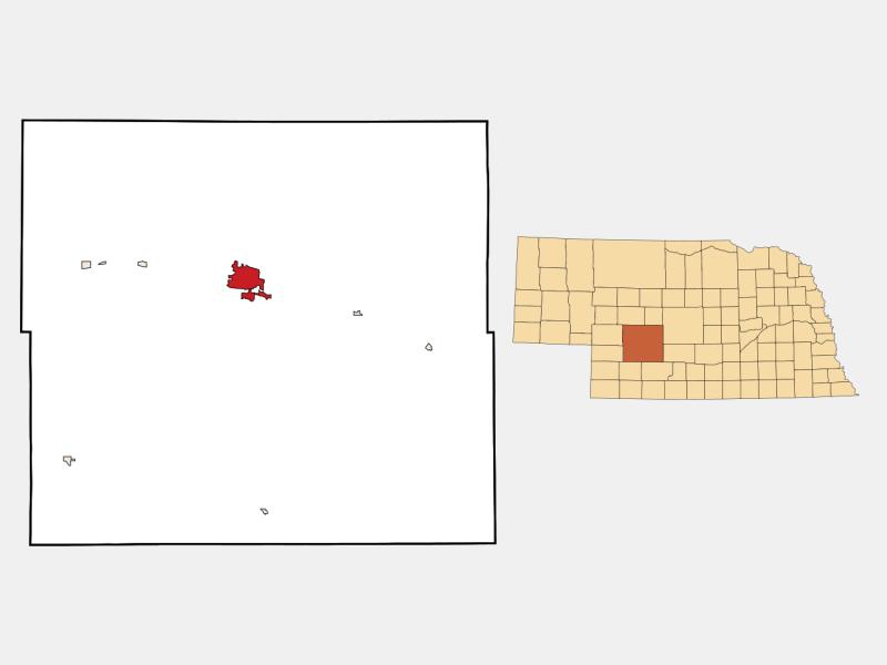 North Platte locator map
