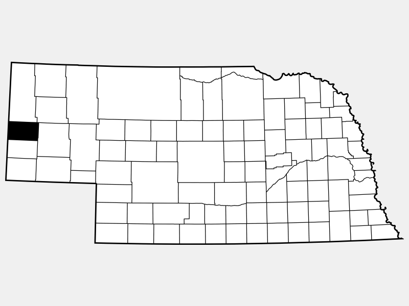 Scotts Bluff County locator map