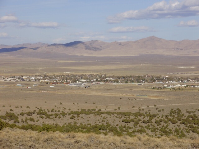 2012-10-20 View of Wells in Nevada from Angel Lake Road 'Nevada State Route 231' image