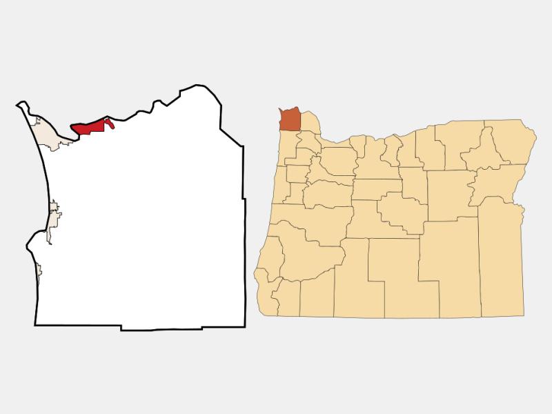 Astoria locator map