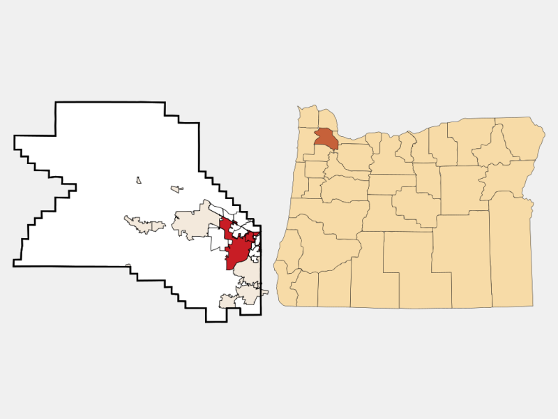 Beaverton locator map