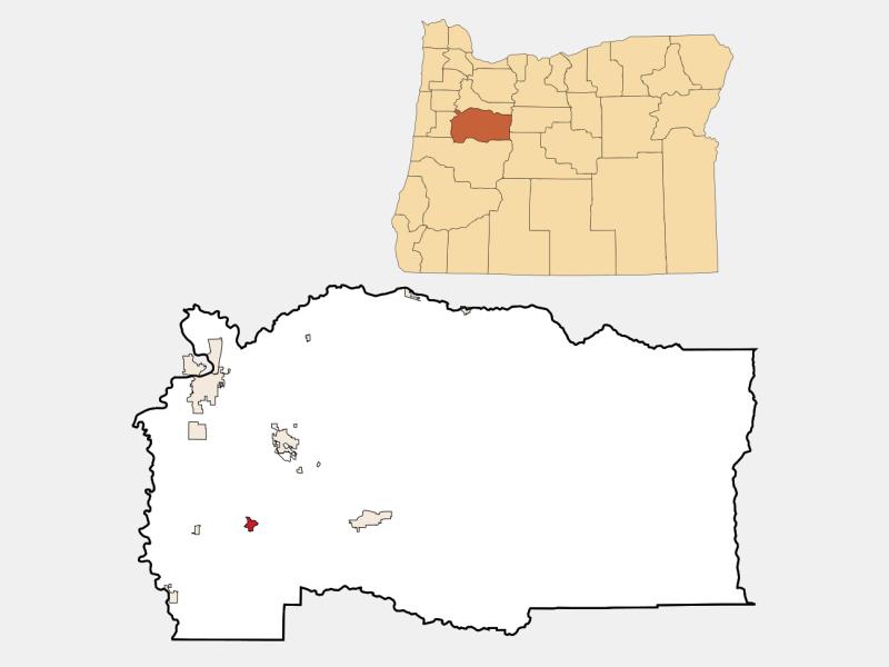 Brownsville locator map