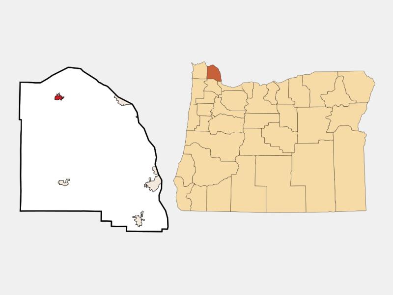 Clatskanie locator map