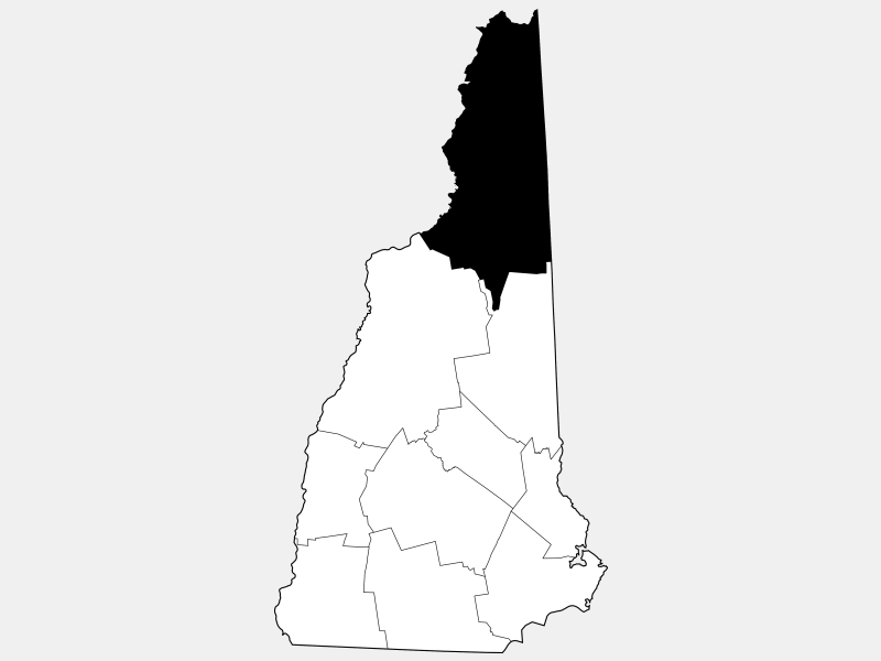 Coos County locator map