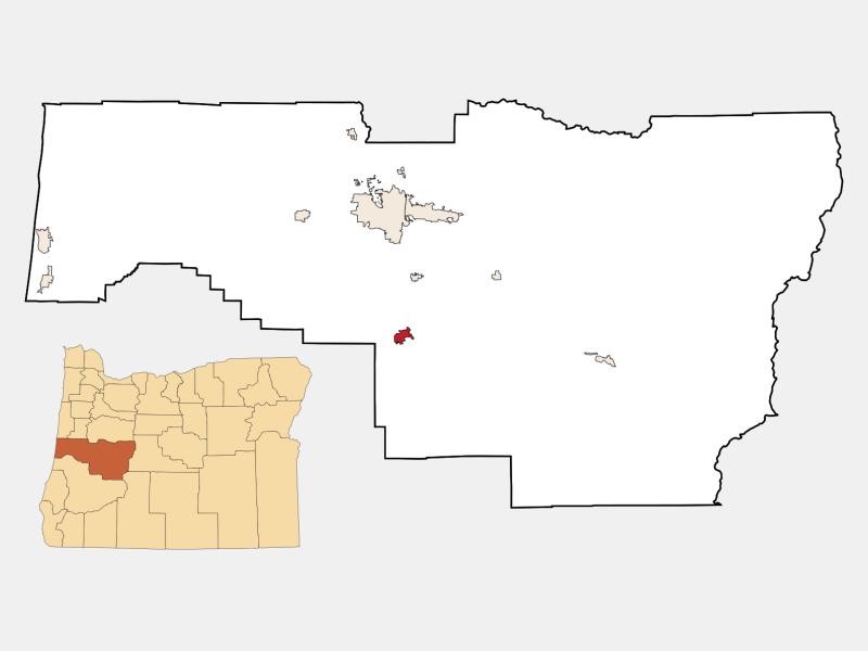 Cottage Grove locator map