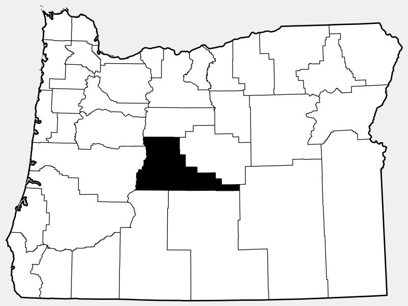 Deschutes County locator map
