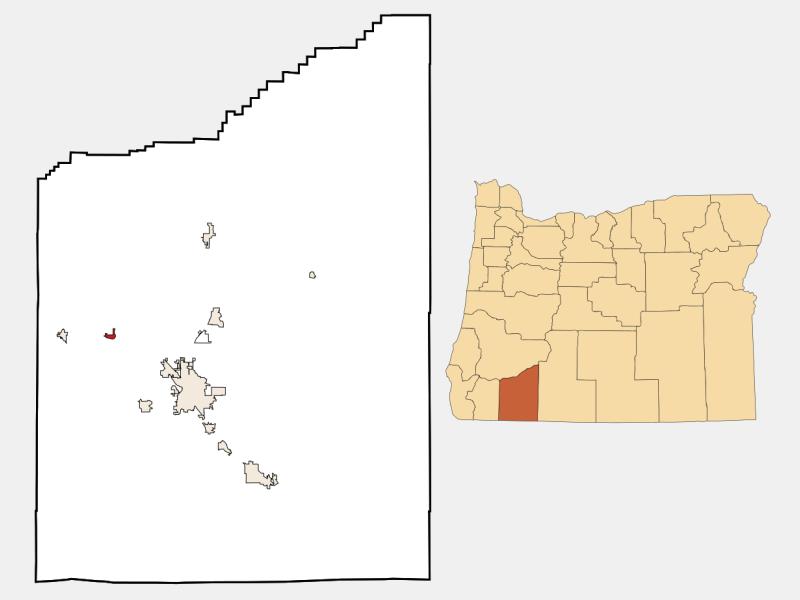 Gold Hill locator map