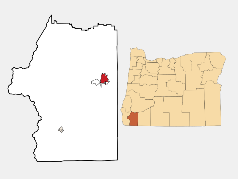 Grants Pass locator map