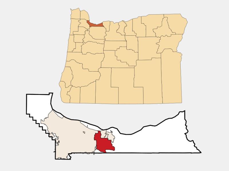 Gresham locator map