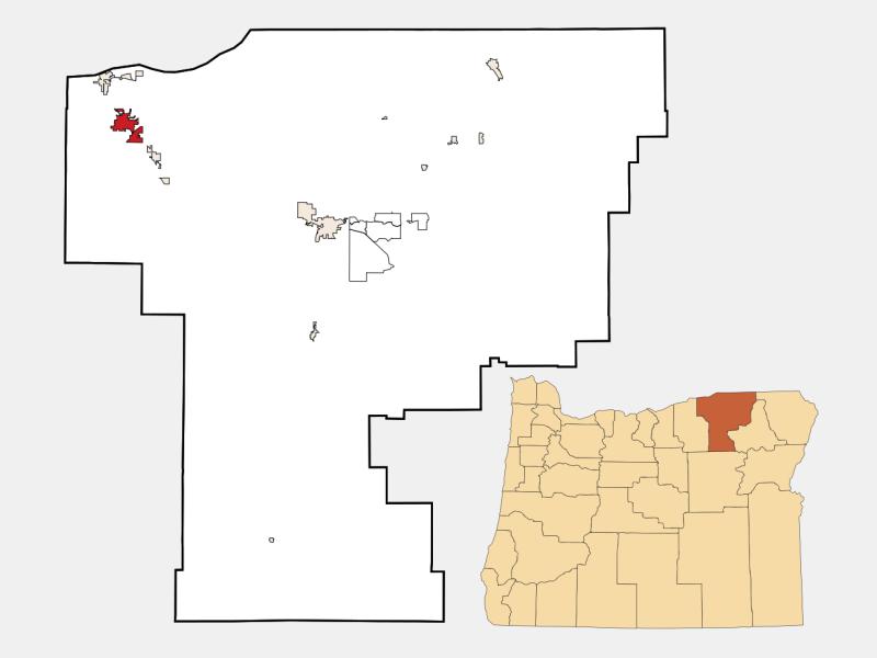 Hermiston location map