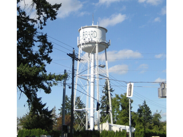 Hubbard Oregon watertower image