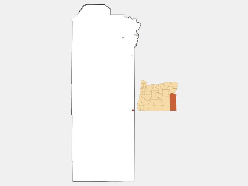 Jordan Valley locator map