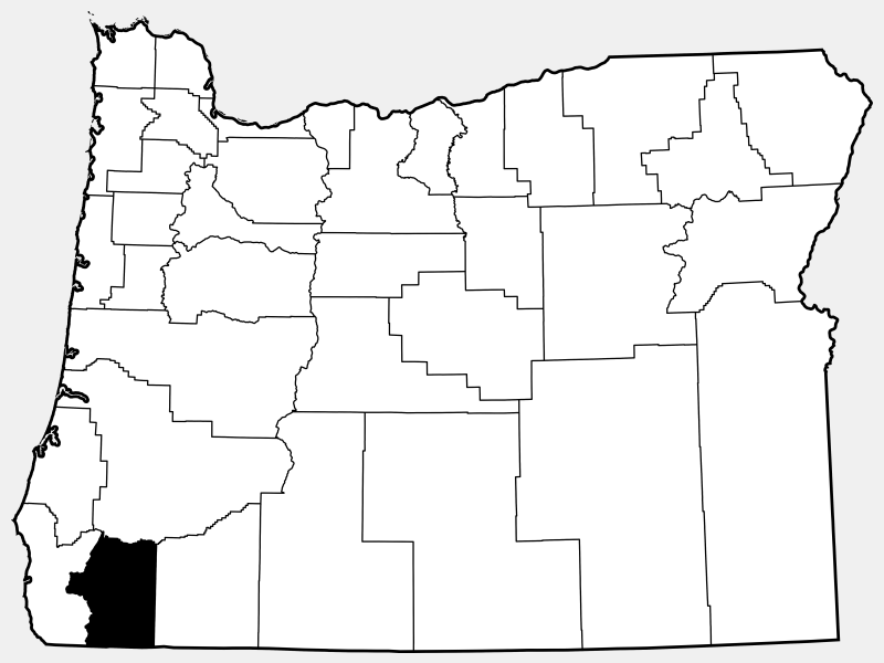 Josephine County locator map
