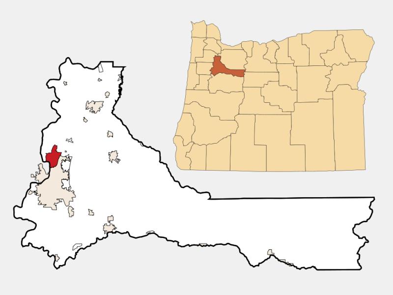 Keizer locator map