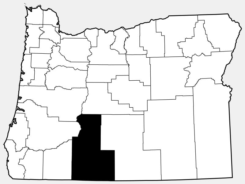 Klamath County locator map