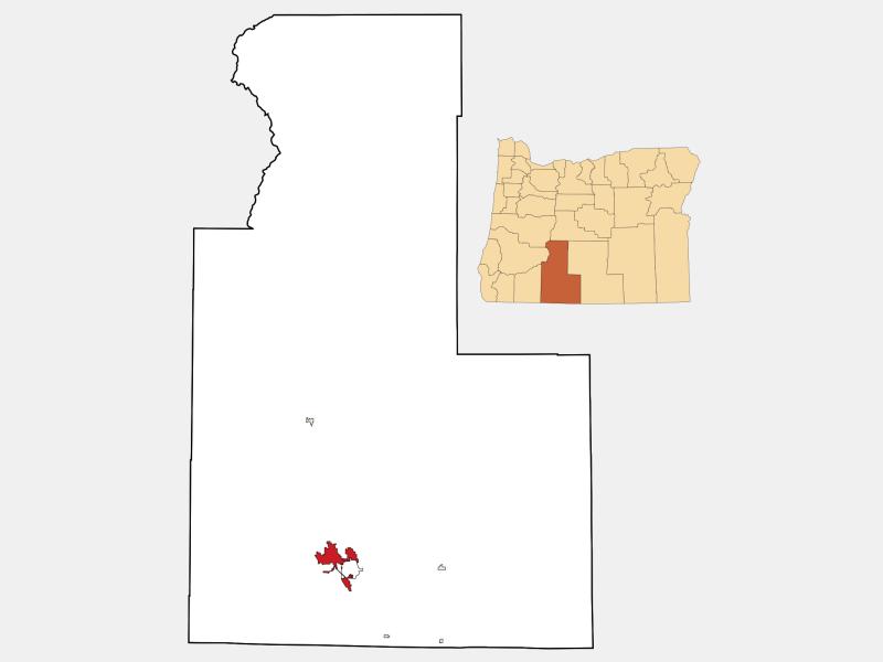 Klamath Falls locator map