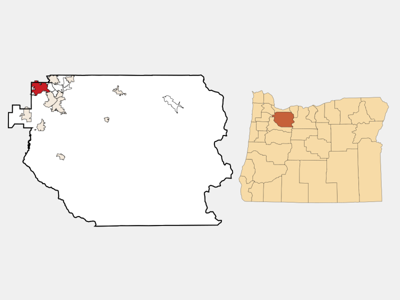 Lake Oswego locator map
