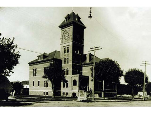 1898 Lane County Courthouse 'Lane County  Oregon scenic images' 'lanD0040a' image