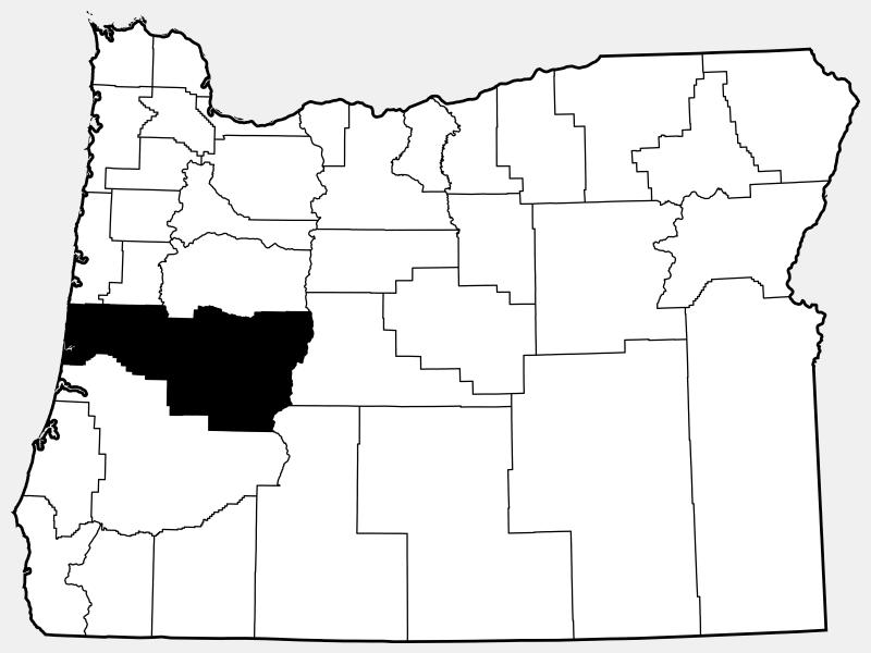 Lane County locator map