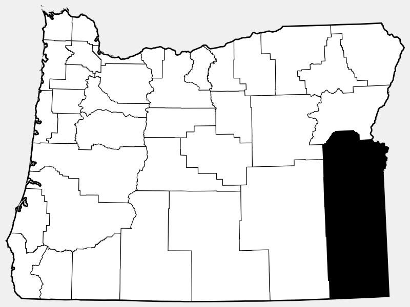 Malheur County locator map