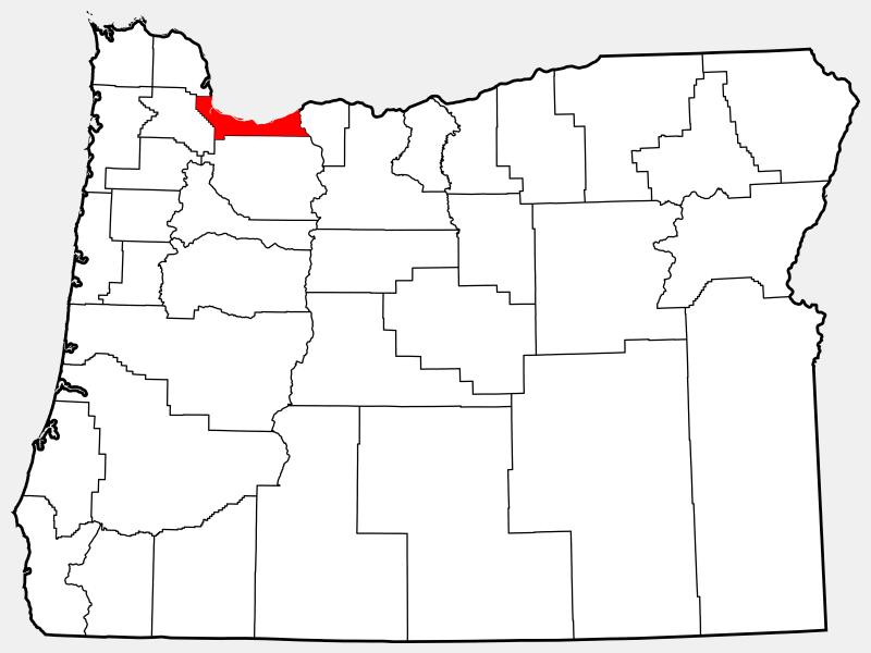 Multnomah County locator map