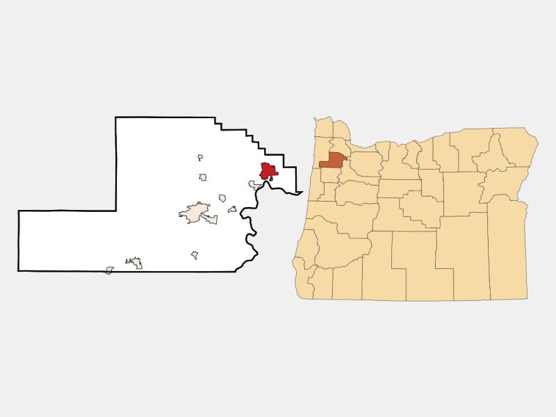 Newberg location map