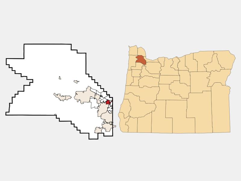 Oak Hills locator map