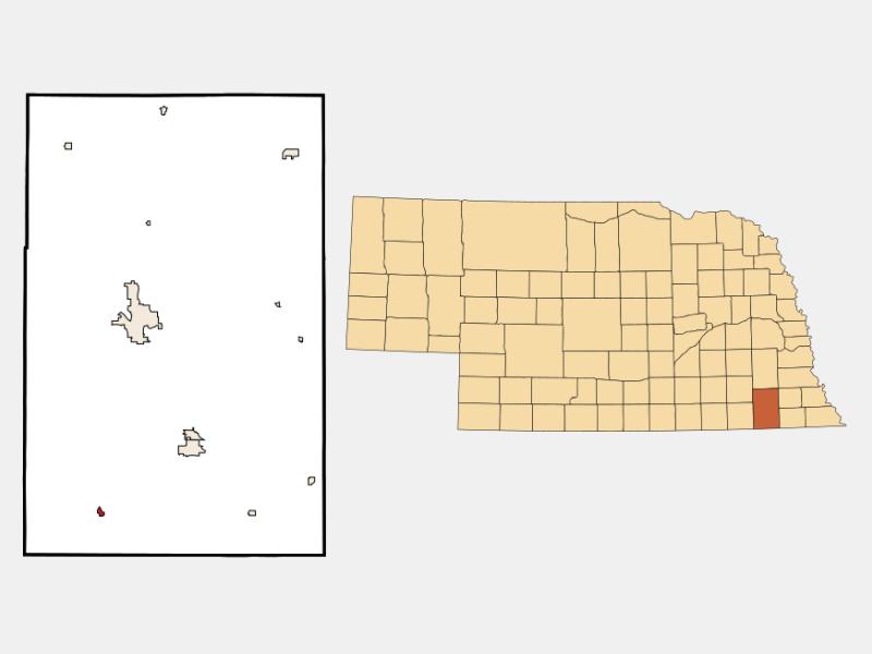 Odell locator map