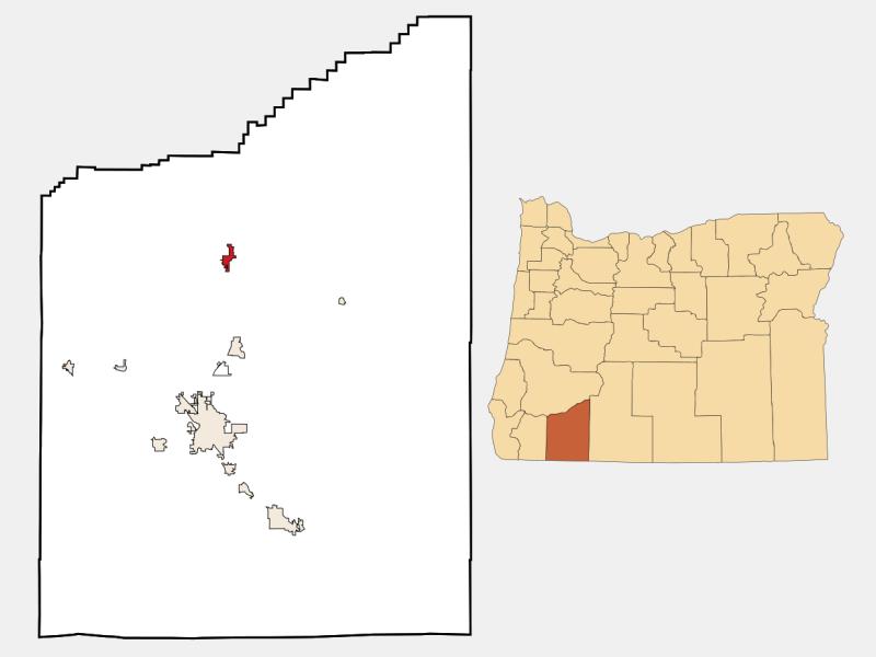 Shady Cove locator map
