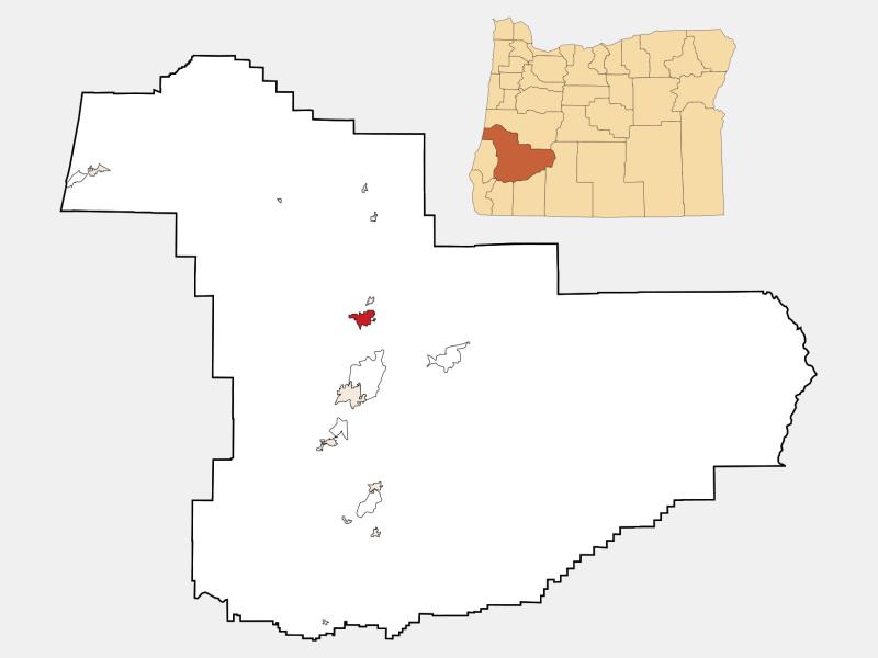 Sutherlin location map