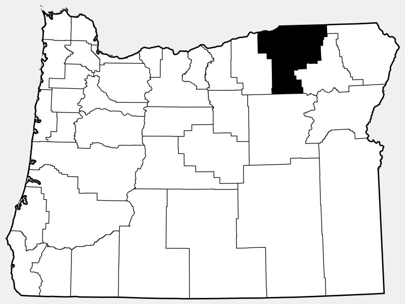 Umatilla County locator map