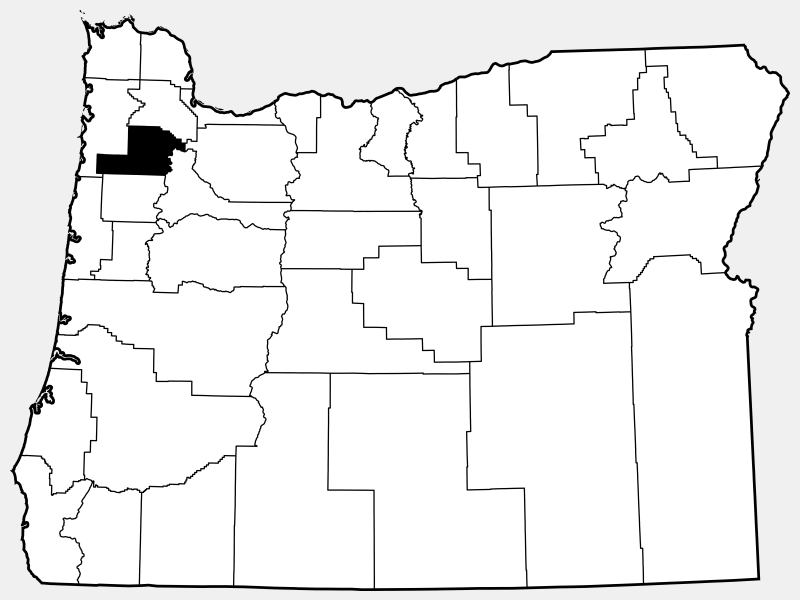 Yamhill County locator map