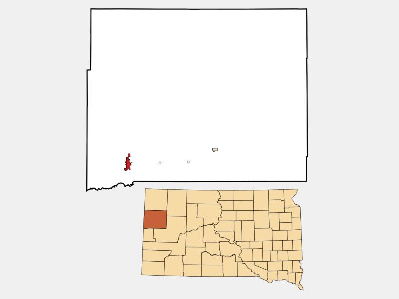 Belle Fourche locator map