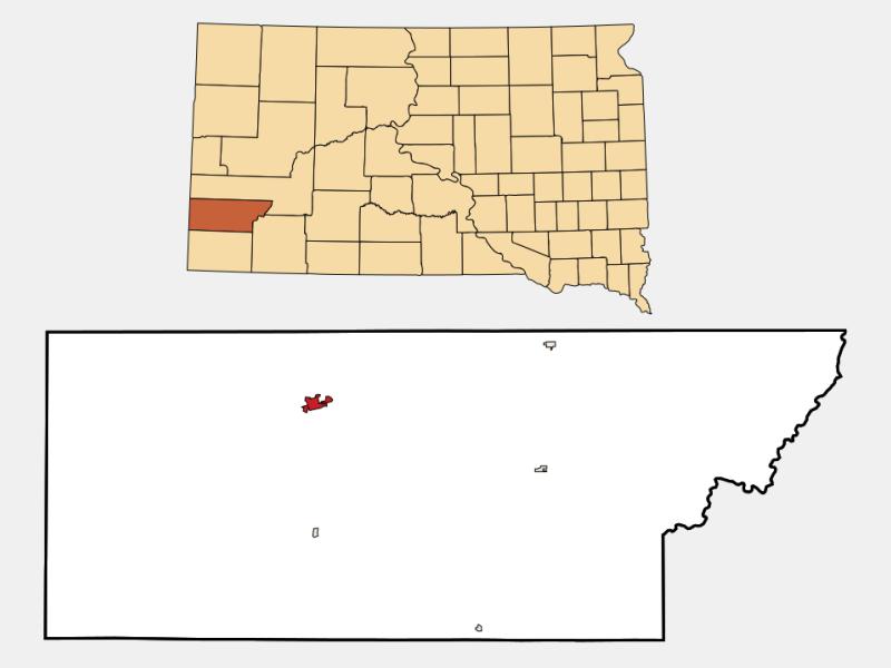 Custer location map