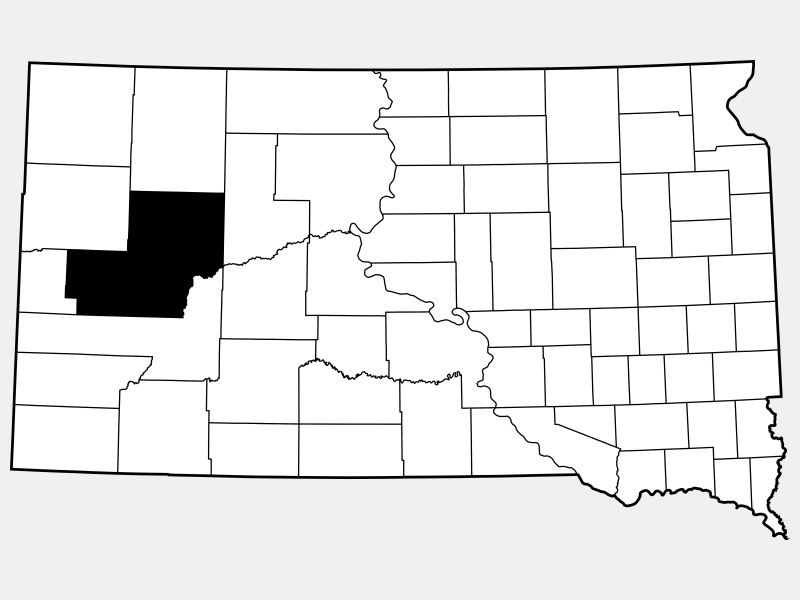 Meade County locator map