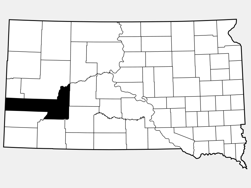 Pennington County location map
