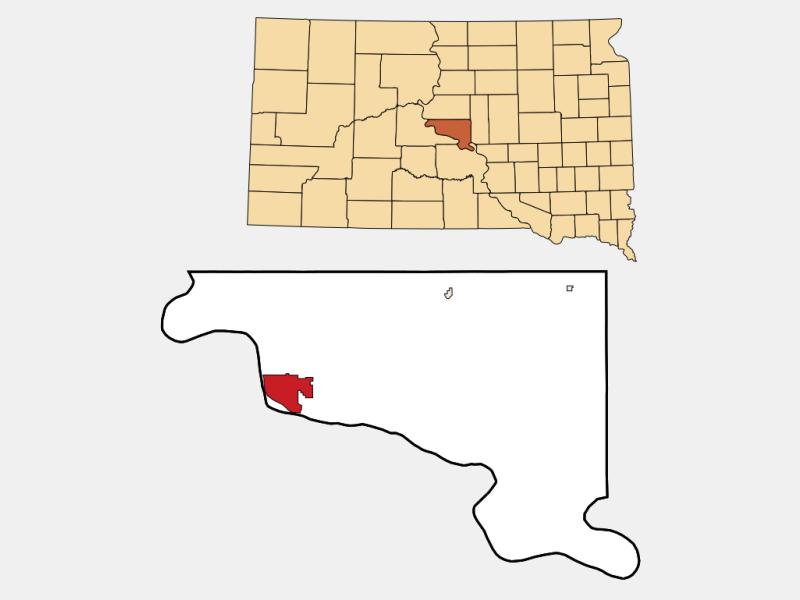 City of Pierre locator map