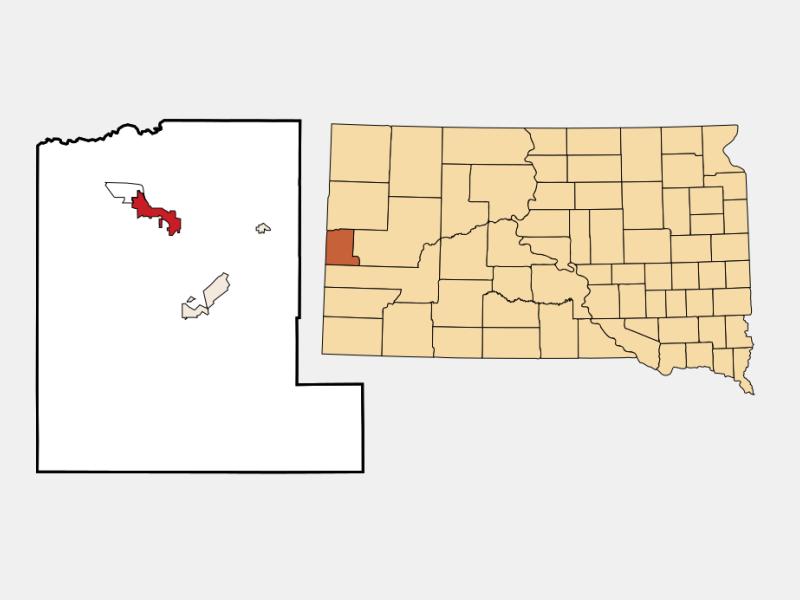 Spearfish locator map