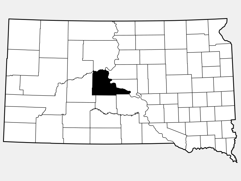 Stanley County locator map