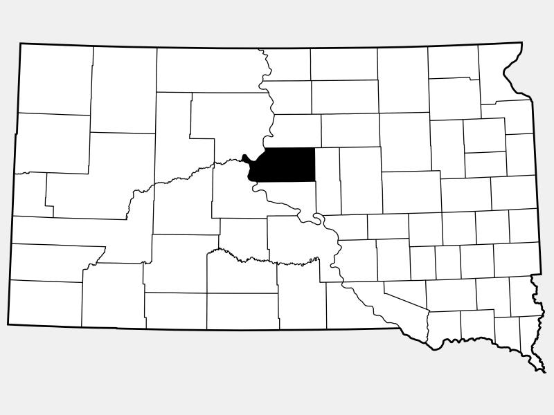 Sully County locator map