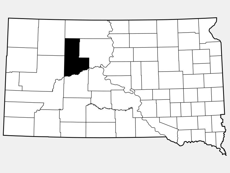Ziebach County locator map