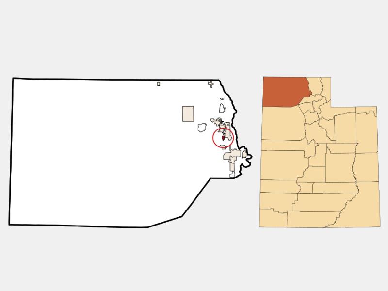 Bear River City location map