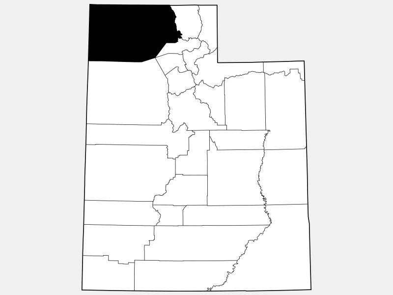 Box Elder County locator map