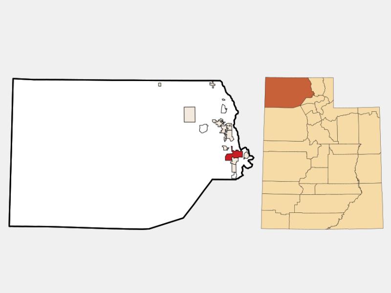 Brigham City locator map